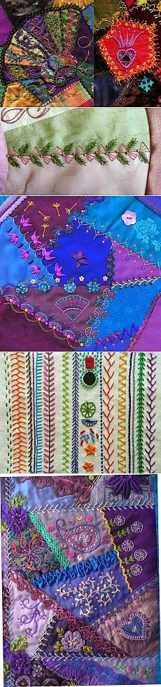 Crazy Quilt Stitches For inspiration