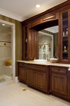 Sonoma Maple, Glacier Pewter via Wellborn Cabinets | vanity ...