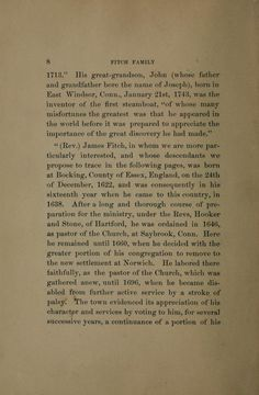 Genealogy of the Fitch family in North America -- this page starts info on Rev. James Fitch... in family line