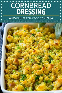 This old fashionedSouthern cornbread dressing recipe is a classic that's a must-have for every Thanksgiving table. It's made with celery, onions, homemade cornbread, white bread and plenty of herbs.