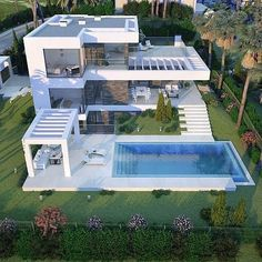 Luxury Homes – Luxury Dale Minecraft Villa, Modern Minecraft Houses, Bungalow House Design, Modern House Design, Modern Architecture House, Architecture Design, Moderne Lofts, Casas The Sims 4, Dream Mansion