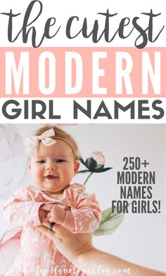 Over 250 beautiful, unique, and uncommon baby girl names! These modern baby girl names are elegant, southern and classic and perfect for your little princess! #babynames #newborn #newbaby #baby #newmom #mom #pregnancy #babygirl Modern Baby Girl Names, List Of Girls Names, Beautiful Baby Girl Names, Vintage Baby Names, Baby Girl Names Unique, Girl Names With Meaning, Boy Girl Names, Rare Baby Names, Popular Baby Names