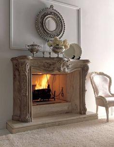 chimeneas de lujo y elegantes 4 Chimeneas de Diseño Clásico, Lujosas y Elegantes