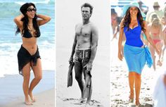 Celebs in swimsuits - Gustavo Caballero/Getty Images; SNAP/Rex Shutterstock; Jean Baptiste Lacroix/WireImage/Getty Images