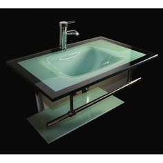Kokols 24 Bathroom Vanity Set kokols modern bathroom vanity and blue vessel sink combo set, size