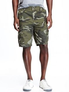 Old Navy Canvas Cargo Shorts For Men Size Tall – Authentic Camouflage