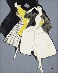 Fashion ilustración de René Gruau, 1920.