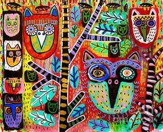 Talavera rainforest owls- Sandra Silberzweig