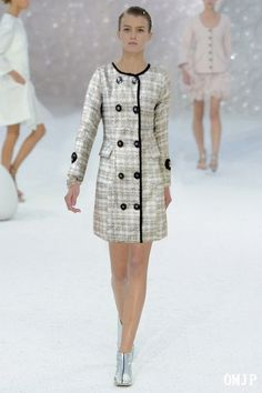 Cheap Chanel Linen Coats Black Gray Outlet With Low Price.
