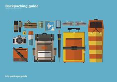 Print design : Backpacking guide on Behance