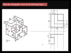 Orthographic views of solid 3 - YouTube