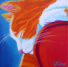 """Cat Nap"" par Lisa Nelson"