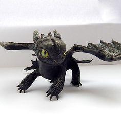 Toothless Night Fury toothless dragon sculpture от ViaLatteaArt