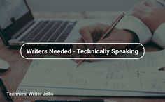Technical #Writer Jobs 🖊️ https://tapwage.com/channel/writers-needed-technically-speaking