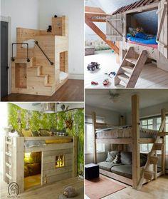 bed child-original-make-it-yourself-wood-natural-form-hut-house games Source by ccharliot Bunk Beds Boys, Kid Beds, Ikea Hack Kids, Mezzanine Bedroom, Loft Bed Plans, Hut House, Ikea Kura, Play Houses, Home Renovation