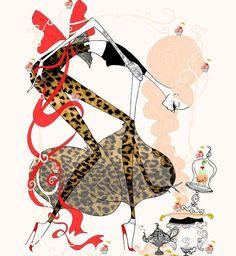 Eat cake for breakfast! #soniamenti #illustration #fashion #art #spring #bohochic #artwork #muffins #sexy #fashionillustration #animalprint #drawing #bohemian #bohochic #leopard #pinkhair #cupcakes #beauty #feminine #bow#boho#glamourous #fashionart #fashiondrawing#tea #breakfast #style