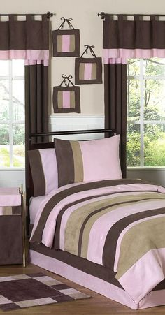 Jojo Soho Pink and Brown Bedding