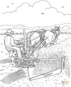coloring page On the farm on Kids-n-Fun. Coloring pages of On the farm on Kids-n-Fun. More than coloring pages. At Kids-n-Fun you will always find the nicest coloring pages first! Horse Coloring Pages, Cool Coloring Pages, Free Printable Coloring Pages, Free Coloring, Coloring Pages For Kids, Coloring Sheets, Coloring Books, History Images, Printable Crafts