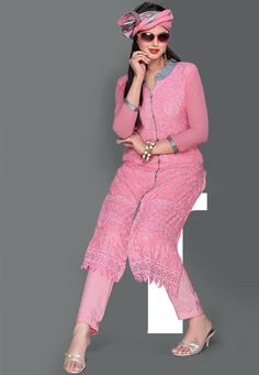 #Pink #Kameez with Straight Pant