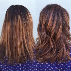 Before/After. Balayage and soft waves