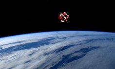 """Astronaut Reid Wiseman tweeted this photo on June 1, 2014 from the International Space Station """"A simple toy from my childhood makes for a cool picture in space."""""""