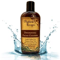 Natural Escapes Lemongrass Detoxifying Daily Facial Cleanser w/ Activated Charcoal! Antioxidant Anti-Aging Cleanser Leaves Skin Velvety Soft Smooth! Non-Drying Sulfate-Free Face Wash! 4oz * This is an Amazon Affiliate link. Visit the image link more details.
