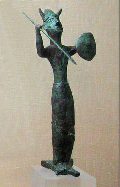 Bronze Ingot God from Enkomi, Cyprus, 12th cent. BC