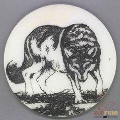 CHARMING FRIDGE MAGNET WOLF WALL DECOR DIY WHITE STONE ZR3000121 #ZL #FridgeMagnet