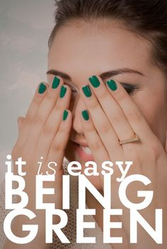Go green. #emerald #green