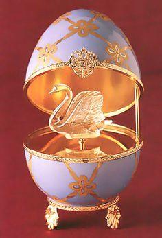 Swan Musical Egg faberge