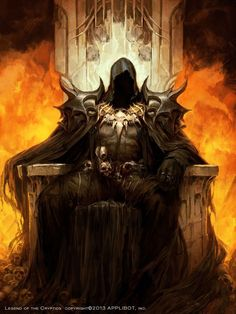 The Demon King, Chaos. He also lords over monstrous creatures such as Shadow People and their Shadow Beasts along with Hell Hounds. Also known as the Shadow King. Dark Fantasy Art, Fantasy Artwork, Fantasy World, Dark Art, Demon Artwork, Fantasy Demon, Elfen Fantasy, Art Noir, Demon King