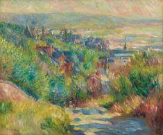 The Hills of Trouville - Renoir Pierre-Auguste Pierre Auguste Renoir, Camille Pissarro, Painting Frames, Painting Prints, Art Prints, Claude Monet, Charles Gleyre, August Renoir, Renoir Paintings