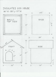 Dog House Drawing and Materials List