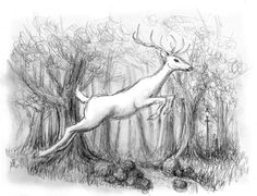 """The White Stag"" from the Chronicles of Narnia, by Jef Murray"