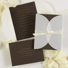 Brown and Cream #Wedding #Invitations   #Chocolate Wedding ... Wedding ideas for brides, grooms, parents & planners ... https://itunes.apple.com/us/app/the-gold-wedding-planner/id498112599?ls=1=8 … plus how to organise an entire wedding ♥ The Gold Wedding Planner iPhone App ♥