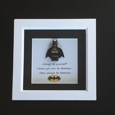 BATMAN Mini Figure Box frame, wall art - lego inspired £16.99