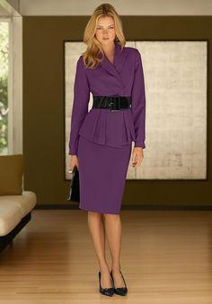 Skirt suits, uniforms, amazing dresses...s..s perfect suits for stylish PROFESSIONAL female attire. Kpz
