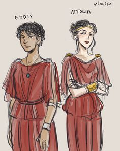 Eddis and Attolia - Oh my goodness, I never thought I would find fan art of this fantastic book!