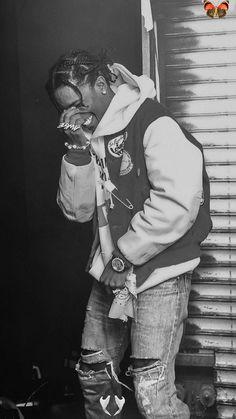 asap rocky #asap<br> Travis Scott, Black And White Picture Wall, Black And White Pictures, Pretty Boys, Cute Boys, Asap Rocky Fashion, Lord Pretty Flacko, Mode Hip Hop, Rap Wallpaper