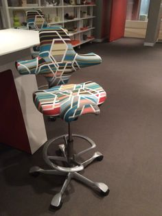 Izzy+ HÅG Capisco Puls Chair. Love the fabric.#NeoCon14