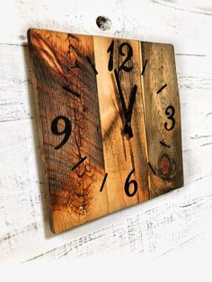 Hey, I found this really awesome Etsy listing at https://www.etsy.com/listing/222895310/reclaimed-barn-wood-clock-rustic-barn