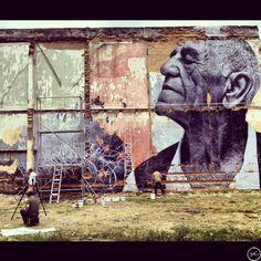 Street Art: The Wrinkles of the City - La Havana | JR and Jose Parla