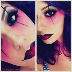 Harlequin Halloween makeup