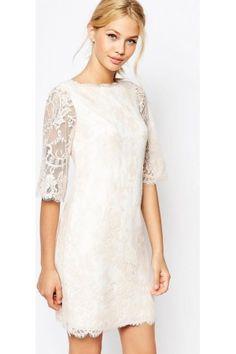 Jurken - Ted Baker Laavia Wide Sleeve Dress in Lace