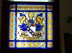 Custom Made Family Crest Stained Glass Panel