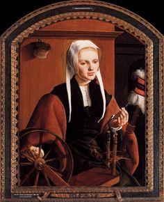 """Maerten van Heemskerck (1498-1574) """"Portrait of Anna Codde"""", 1529."""