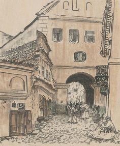 Brama Grodzka - Leon Wyczółkowski