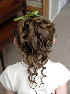 flower girl hairstyles thin hair - Google Search