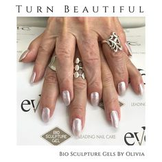 A very elegant set of BioSculpture Gel nails by Olivia Base colour French Rose topped with Essence Glitter Snow Angel We think they look stunning x . Bio Sculpture Gel, Snow Angels, Vegan Beauty, Nail Care, Brighton, Gel Nails, Glitter, Base, Colour
