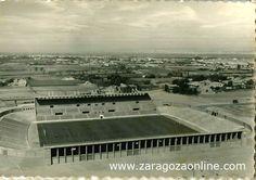 El estadio de fútbol de La Romareda antes de su inauguración en el 57. Muchos años, muchos partidos, emociones, alegrías y tristezas...